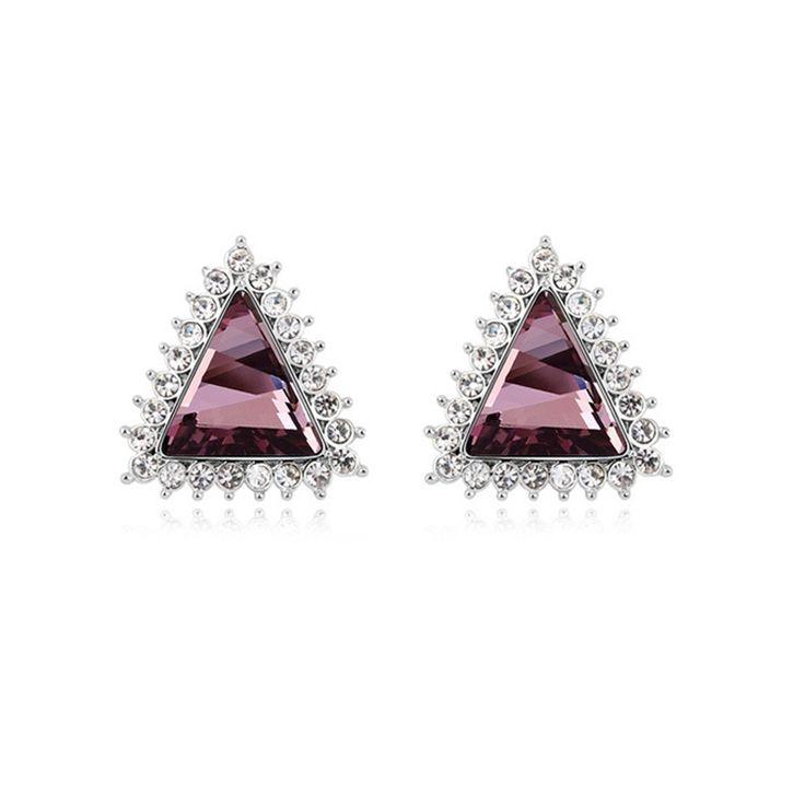 Austrian Crystal Stud Earrings - The Muse