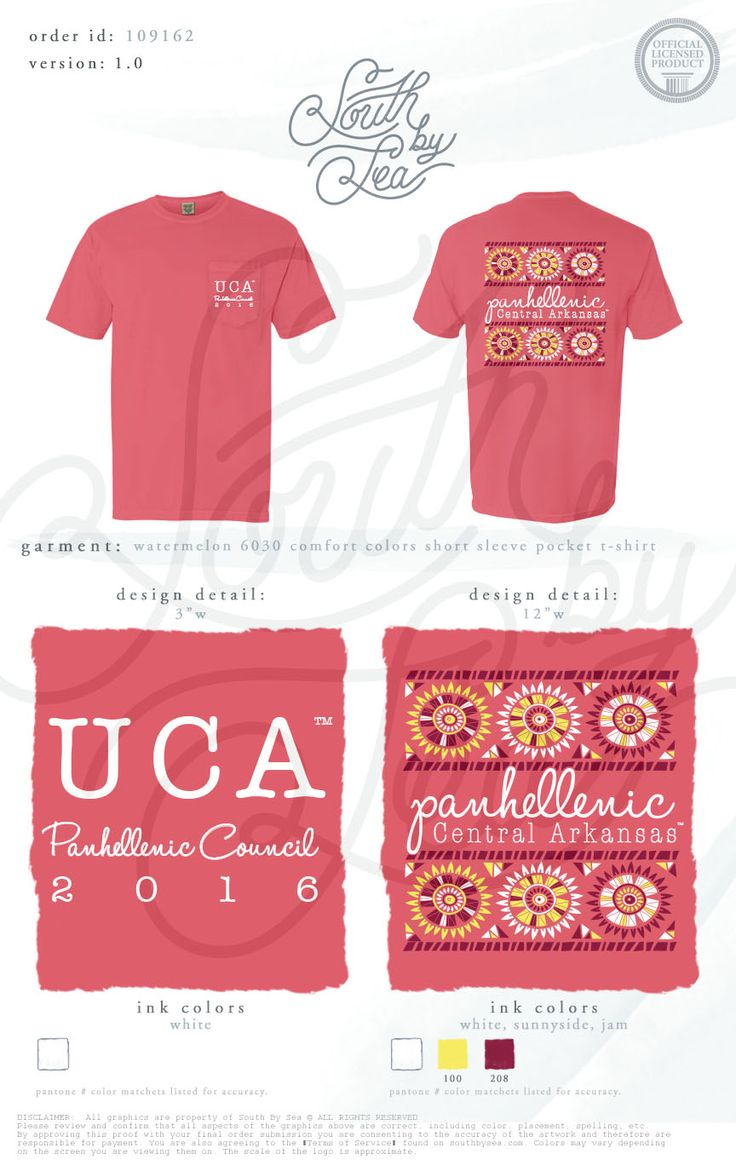 University of Central Arkansas | Panhellenic Council | Panhellenic T-Shirt Design |  South by Sea | Greek Tee Shirts | Greek Tank Tops | Custom Apparel Design | Custom Greek Apparel | Sorority Tee Shirts | Sorority Tanks | Sorority Shirt Designs