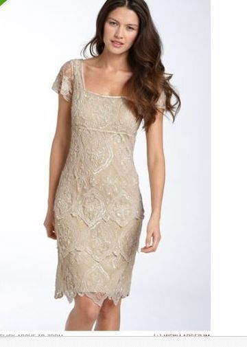 Pisarro Nights Beaded Tiered Shift Dress $148.00 SIZE 12 champagne Wedding Party #PISSARRONIGHTS #Tiered #Cocktail