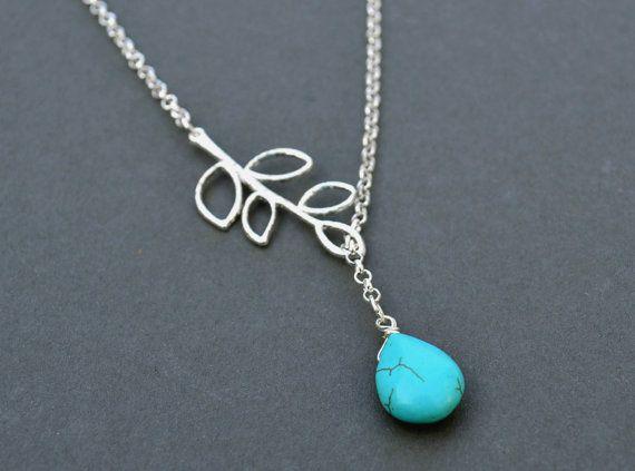 Silver leaf necklace vine necklace paisley by artemisartdesign, $15.00