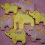 Indian inspired cookies perfect for baby shower or Godh Bharai
