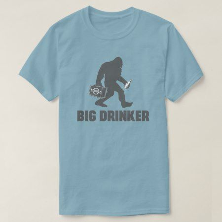 Bigfoot Beer Drinker T-Shirt - tap, personalize, buy right now!