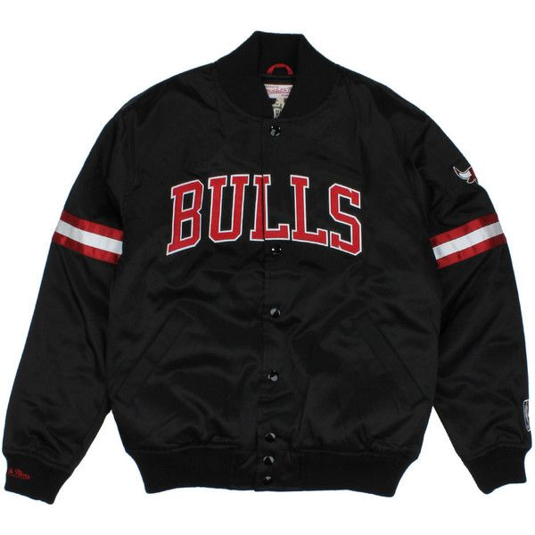 Chicago Bulls Team Colors The Backup Satin Jacket ($180) found on Polyvore