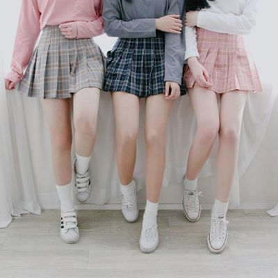 "Sweet lattice pleated skirt SE9680   Coupon code ""cutekawaii"" for 10% off"