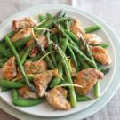 Try the Chicken Sauté with Sugar Snaps and Asparagus Recipe on williams-sonoma.com/
