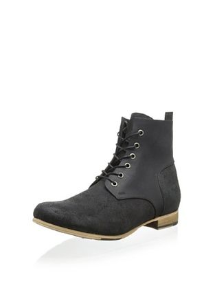 52% OFF JD Fisk Men's Collin Lace-Up Boot (Black)