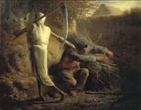 """""""La muerte y el leñador"""", Millet. Año 1859, se encuentra en la Gliptoteca Ny Carlsberg, Copenhague."""