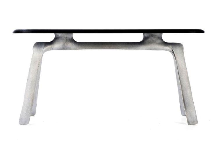 julien carretero: stencil - aluminium furniture cast in fabric | designboom