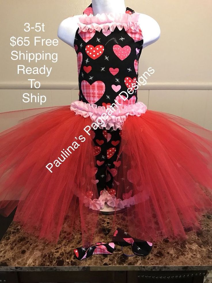 National Pageant Valentine's Day Queen of Hearts Casual Wear 3-5t OOC  | eBay