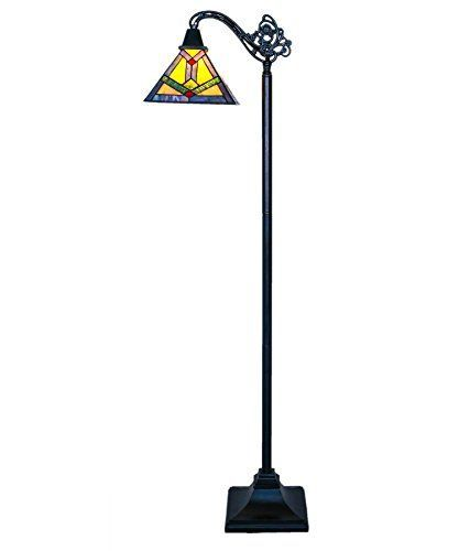 River of Goods 15040 Tiffany Style Stained Glass Southwestern Sunrise Side Arm Floor Lamp 60 H * Click image to review more details.