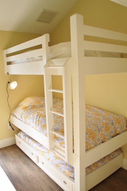 cute built in bunk bed