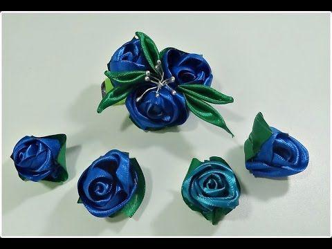 Como fazer uma rosa pequena com fita de cetim de largura n1 - YouTube