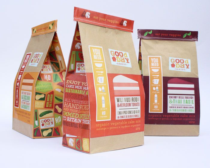 Exceptional Packaging For Fictitious Brand Of Organic Vegetable Cake Mix. Designed By  Jennifer Real