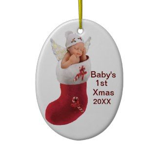 babys first christmas ornament - customizable