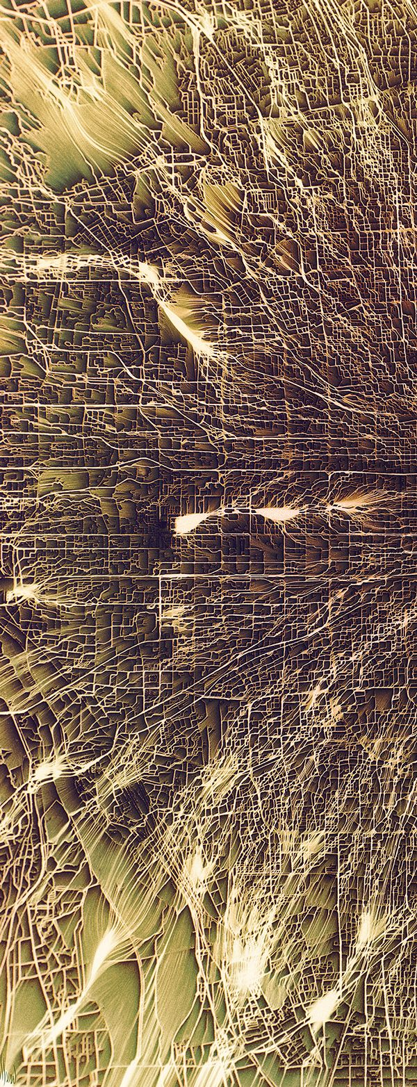 Flowing City Map on Behance