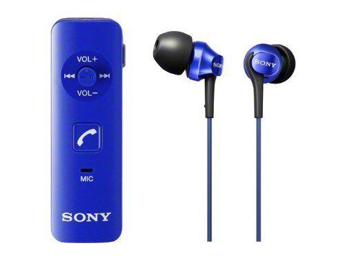 SONY カナル型ワイヤレスイヤホン Bluetooth対応 マイク付 ブルー DRC-BTN40K/L