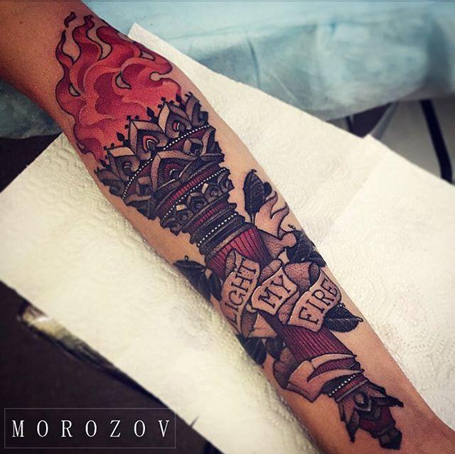 #tattoo#tattoos#tattooart#ink#neotraditional#neotraditional#neotrad#art#sketch#tattoosketch#torch#fire#blacandgrey#blackandgreytattoo#mv#morozov#mvtattoo#тату#татуировка#факел#морозов