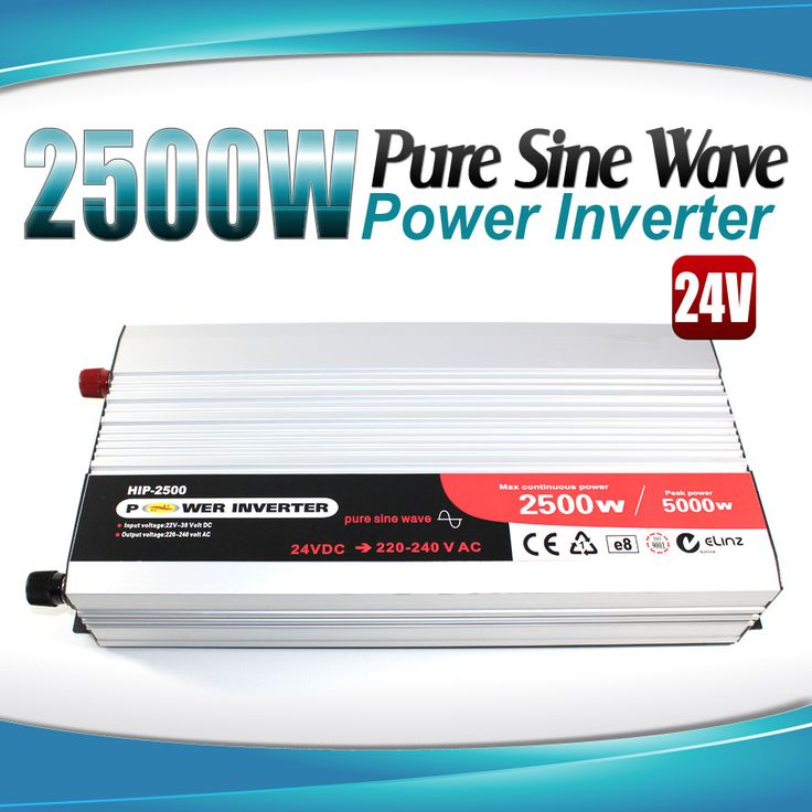 Pure Sine Wave Power Inverter 2500w/5000w 24v - 240v AUS plug Truck Car Caravan