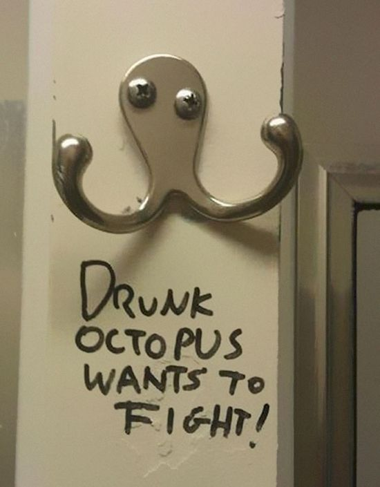 A coathook is actually a belligerent octopus