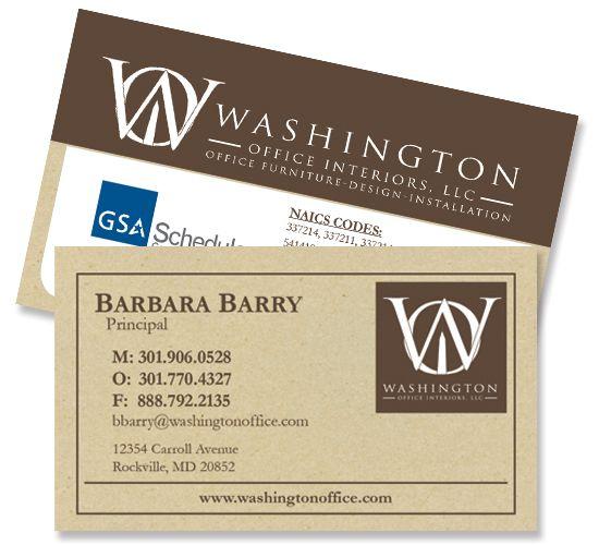 Business Card For Interior Design Firm