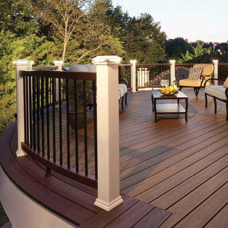 Wonderful Trex Decking Cost For Exterior Design Ideas: Enchanting Trex Decking Cost With Wood Deck Floor And Wood Deck Railing Plus Outdoor Furniture