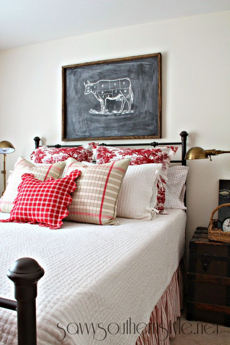 17 best images about decorating master bedroom on pinterest country bedrooms quilt and red Master bedroom with red bedding