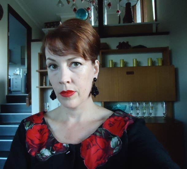 My attempt at Joan Holloway's Roses Dress from Mad Men at: www.quietvintagesewing.wordpress.com
