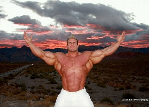 Jay Cutler / Huge bodybuilder, just makes men think that they must look like this to be masculine.