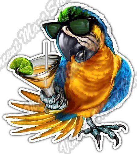 """Florida Paradise Parrot Tropical Margarita Car Bumper Vinyl Sticker Decal 4""""X5"""" FOR SALE • $3.50 • See Photos! Money Back Guarantee. San Francisco Giants MLB Basebal Florida Paradise Parrot Tropical Margarita Car Bumper Vinyl Sticker Decal Approximate Dimensions 4""""X5"""" Features How to Apply -Contour cut around the image -Made of high 162510588812"""