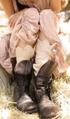 Loving the combat boots… with everything. You never know when you may end up. Practical and cute...