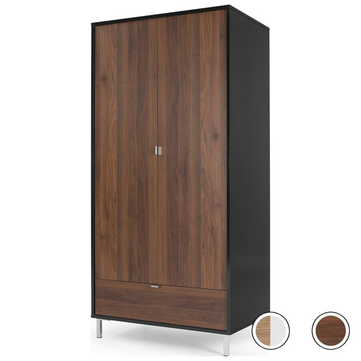 Latymer Wardrobe, Walnut Effect and Black Gloss from Made.com. Dark Wood. Express delivery. Say 'hello' to the new alpha in the room. Latymer adds a..