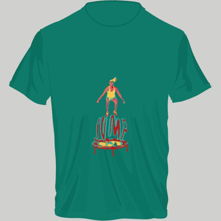 jumping; t-shirt unisex, woman, child, 9 colors, several sizes; shipping worldwide; 17€ + shipping rates