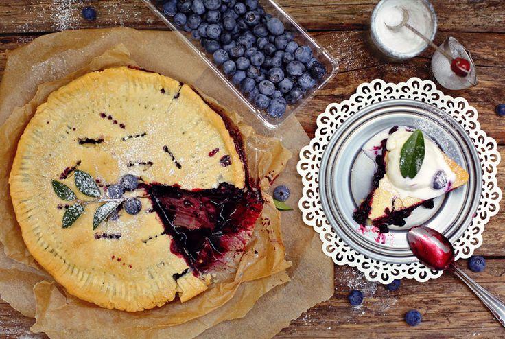 Американский черничный пирог