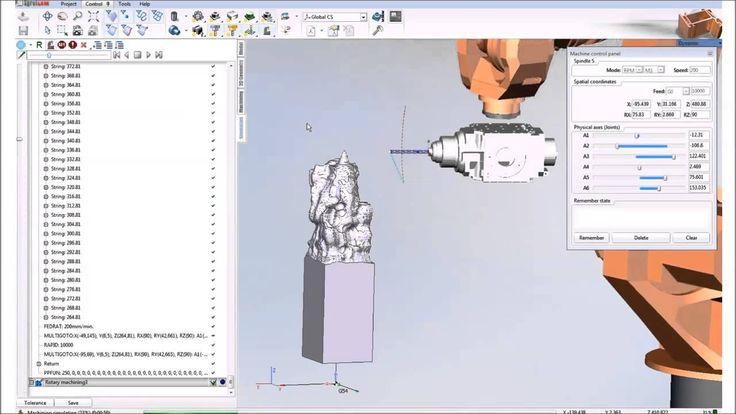 SprutCAM Robot - frezowanie rzeźby KUKA KR16