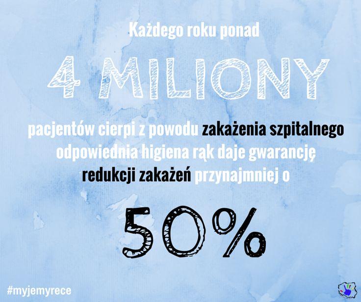 """Ponad 4 miliony pacjentów cierpi rocznie z powodu zakażenia szpitalnego, w Polsce jest to ok. 8% wszystkich hospitalizowanych.  """"Odpowiednia higiena rąk daje gwarancję redukcji zakażeń przynajmniej o 50%"""" – przekonuje prof. Didier Pittet ze Światowej Organizacji Zdrowia, twórca skutecznego programu higieny rąk i walki z zakażeniami szpitalnymi."""
