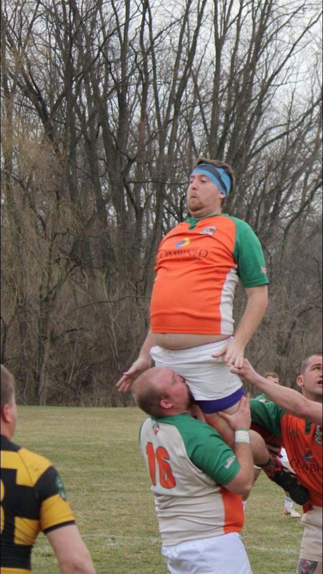 Son premier match de rugby