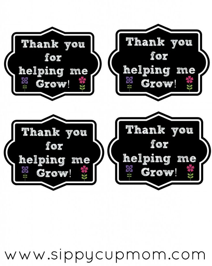 FREE Thank You for Helping Me Grow Printable  + 15 More Teacher Appreciation Gifts