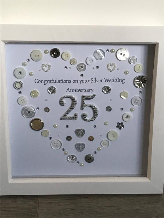 Silver Anniversary Personalised Gift 25th Wedding Gift Wedding Anniversary Anniversary Present 25 Wedding Anniversary Gifts Silver Wedding Anniversary Wedding Anniversary Gifts