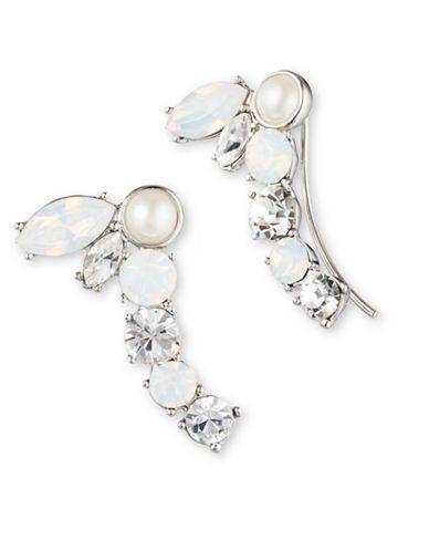 Faux Pearl Crawler Earrings | Lord and Taylor