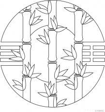 Free mandalas coloring > Plant Mandala Designs 1 page