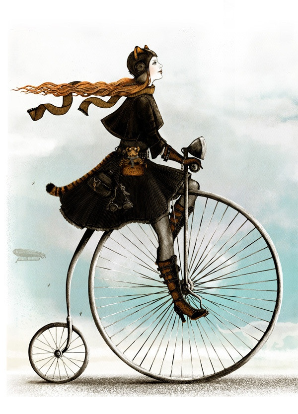Penny Farthing Artwork By Alena Demicheva.