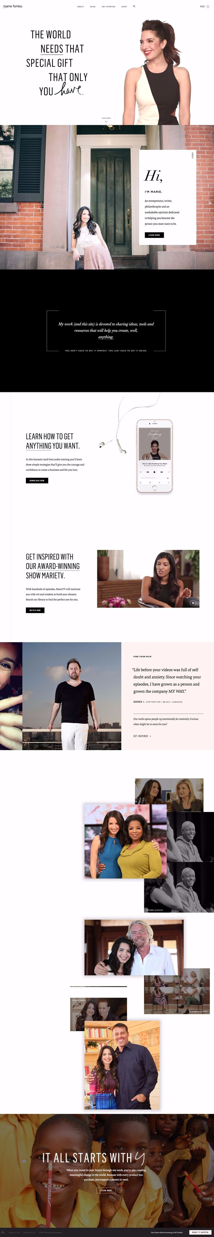 This website is upbeat, clean, and light. The animations are interesting and appropriate for the design. #white #black #photography