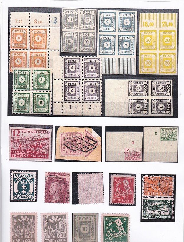 stamps Germany and rare Romania stamp