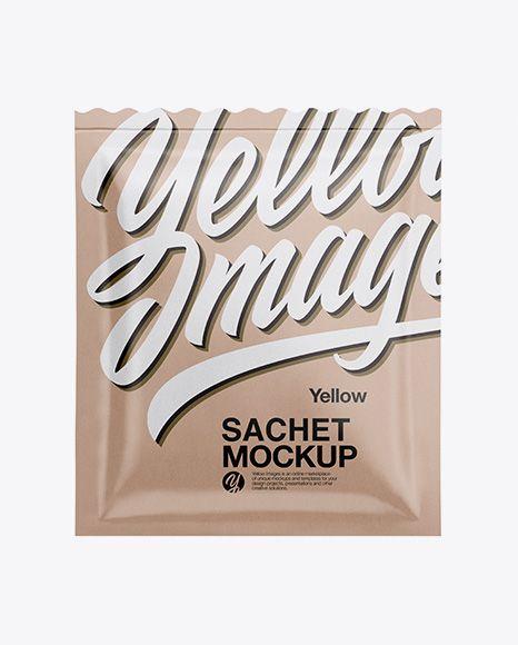 Kraft Sachet Mockup In Sachet Mockups On Yellow Images Object Mockups Mockup Free Psd Free Psd Mockups Templates Psd Mockup Template