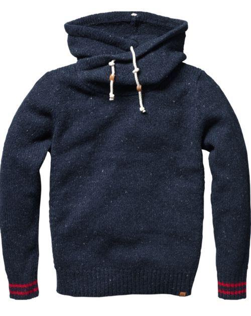 JAMAIS VULGAIRE, blog mode homme, magazine et relooking online   Un exemple de beau hoodie d'hiver avec un bon col et une belle matière