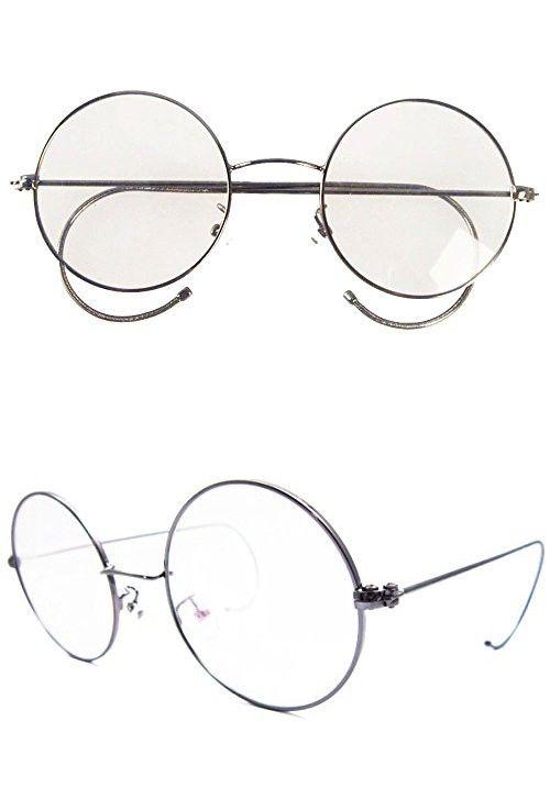 ca024bcbb22 Agstum Retro Round Optical Rare Wire Rim Eyeglass Frame 49mm (Large size)  (Gunmetal