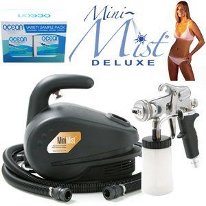 Apollo Mini-Mist Deluxe Sunless Spray Tanning System with Ocean DHA Solution Sunless Tanning Variety Sampler Pack (4 Solutions - 1 Pint Total) by Apollo. $419.96. The Mini-Mist® Deluxe is easy to use, and highly cost effective. The Mini-Mist® Deluxe is easy to use anywhere. The Mini-Mist® Deluxe System is Portable, Affordable and Reliable. Our HVLPsun T5020 Metal Mist Applicator has all stainless steel fluid parts. The Mini-Mist® mighty powerful motor produces...