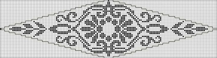 Oval 20 | Free chart for cross-stitch, filet crochet | Chart for pattern - Gráfico