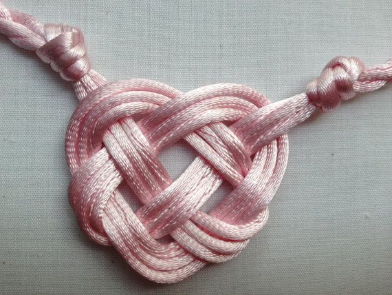 This heart shaped handfasting cord would be perfect for a handfasting ceremony and is available in lots of colors.