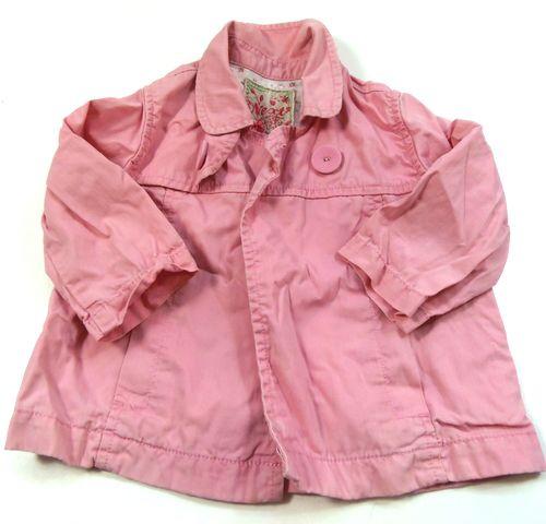 BRUMLA.CZ – Značkový dětský a dospělý second hand a outlet, použité oděvy pro děti a dospělé - Růžová plátěná jarní bundička zn. Next